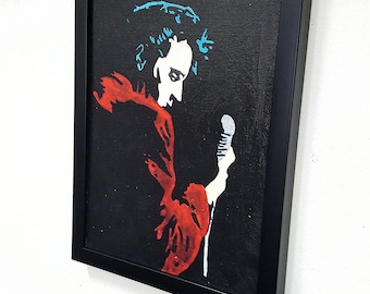Elvis The King Presley -  Framed Wall Art Giclee Canvas Paint,Painting, Poster,Print- Great Rock'n'Roll Home Decor