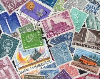 50 Diff. FINLAND Stamps, Suomi,Suomi Stamps,Postage Stamps,Stamp Collection,Finnish Stamps,Stamps,Scandanavian Stamps,Finland postage stamps