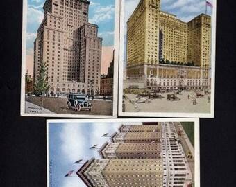 Lot 3 New York Postcards, Vintage, Hotel Postcards, New York City Postcards, NYC Postcards, New York Postcard,New York City Postcards
