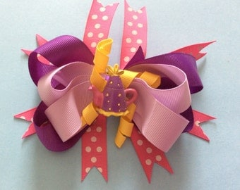 Beauty and the Beast Teapot Layered Boutique Hair Bow