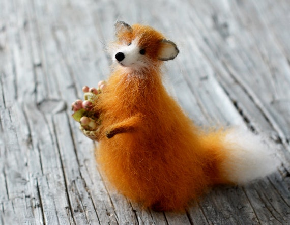 Fox Stuffed Animal Home Decor Home Decoration Gift For Her
