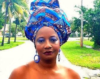 African head wrap fabric, Head Scarf Fabric, Extra Long/ DIY Head Wrap fabric/ African head wraps/Rasta Head Wraps