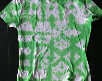 Shibori Pattern Green Tie Dye