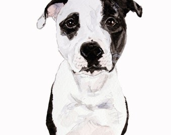 Dog Watercolor Painting, custom personalized pet portrait, original art, unique gift for dog lovers