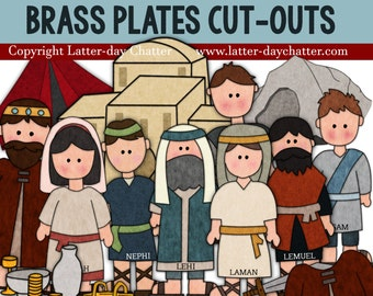 Nephi and Brass Plates Jumbo Cut-outs