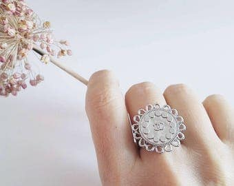 Chanel Vintage button ring