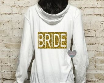 Bride Hoodie. Maid of Honor. Wedding Clothing. Bridal Gift. Bridesmaid Hoodie. Bridal Party Hoodies.