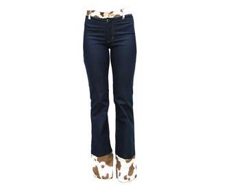 Gianfranco Ferre cow animal print denim jeans
