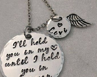 In Memory Of - I'll Hold You In My Heart - Memorial Keepsake - Sympathy Gift - Grieving Gift - Bereavement Necklace - Loss of Loved One