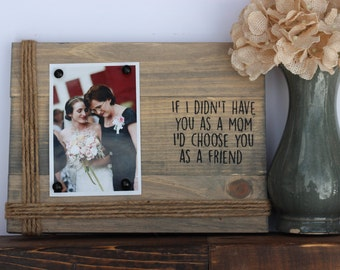 mom picture frame. mom from daughter.  Gift for mom. Mother's day gift. Christmas gift for mom. mom from daughter. gift for mother of bride