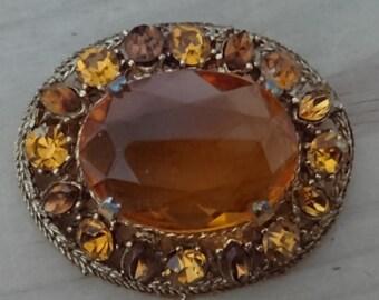 Large rhinestone brooch