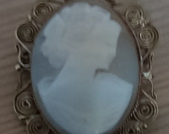 Vintage carved shell cameo