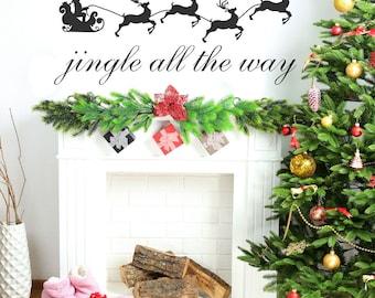 Christmas Decoration, Custom, Christmas, Merry Chrsitmas Wall Decal