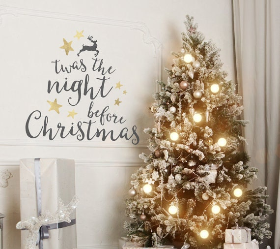 Twas The Night Before Christmas wall vinyl