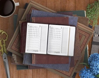 Month Details Planner - Mini Sally Printable Insert for Field Notes and Passport Traveler's Notebooks - For RPG Adventure Geeks