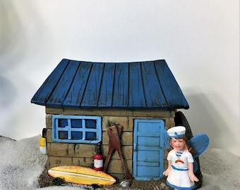 Miniature Beach Surf House Fairy Garden House Beach Shack