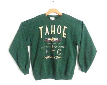Vintage 90s Sweatshirt Ski Tahoe Large