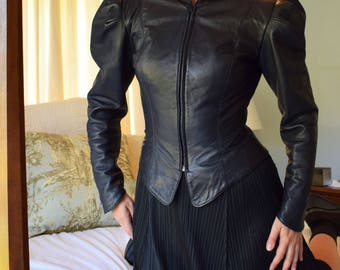 Fitted Victorian Cut Leather Jacket