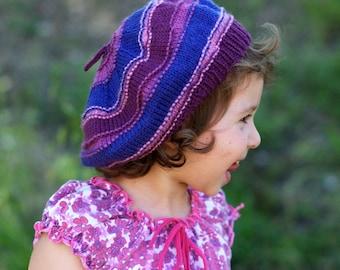 Corby beret PDF knitting pattern (instructions)
