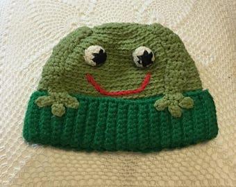 Handmade Vintage Frog Hat!
