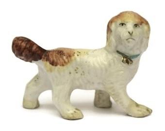 Antique Porcelain Dog Figurine.