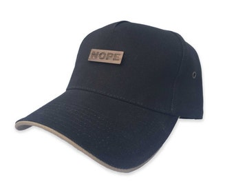 Custom Trucker Hat, Nope Hat, Baseball cap men, dad hat, monogram trucker hat, trending hat, 5 years together, gift for him husband hat