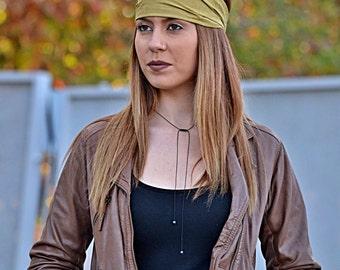 Cotton Headband, Olive Headband, Brown Head Wrap, Sports Headbands, Wide Headband, Womens Turban, Turban Headband, Womens Headband, Turbans