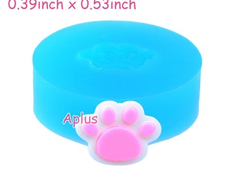 DYL359 13.6mm Mini Pawprint Silicone Mold - Animal Paw Mold Miniature Food Jewellery Cookie Biscuit, Resin Fimo Clay, Candy Mold