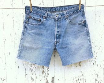 High Waist LEVIS 501 Shorts 34 Waist