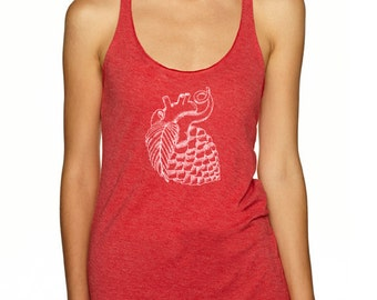 Craft Beer shirt- Hop Heart- women's Racerback Tank