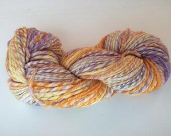 SALE: Sherbert Handspun Yarn, Superwash Merino/Merino/Silk, approx. 140 yds