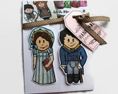 Gift for Readers, Pride and Prejudice Magnetic Bookmark, Jane Austen Accessories, Mr. Darcy and Elizabeth Bennett, For Book Lovers