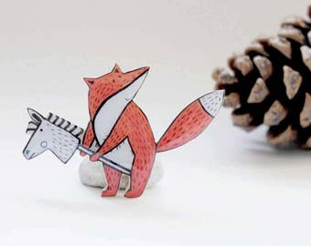 fox pin enamel pin gifts for kids ideas fox jewelry fox gift for her fox brooch fox badge fox button woodland animals fox baby shower favor
