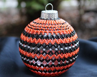 Hand Beaded Glass Ornament