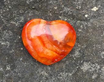 Carnelian Polished Hearts Small High Quality