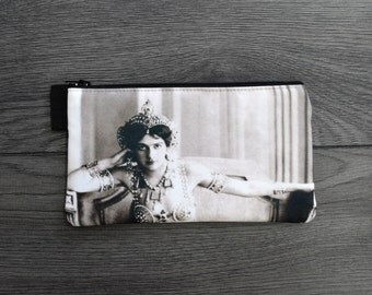 mata hari - lined twill pencil case - double sided print