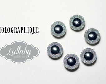 Eyechips 13 mm - holographic colours size Pullip models
