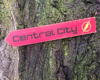 Central City Wooden Directional Sign - Made to Order