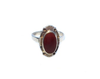 Art Deco silver ring Gr. 54, antique sterling silver ring precious stone US size 6.8 UK size N