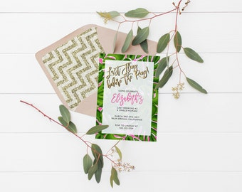Printable Last Fling Before the Ring Invitation