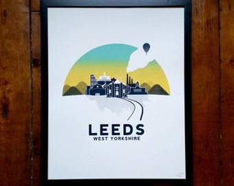 Leeds Screen Print Art Poster by OR8 DESIGN