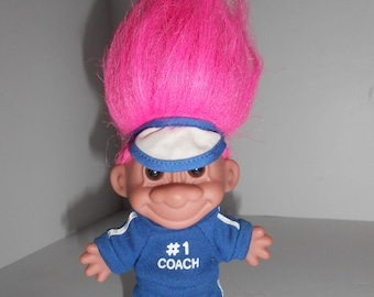 "Vintage Russ #1 Coach Troll Doll 5"""