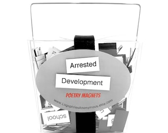 Arrested Development Poetry Magnet Set - Refrigerator Poetry Word Magnets - Free Gift Wrap