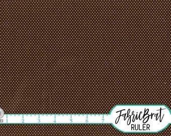 BROWN MINI DOT Fabric by the Yard, Fat Quarter Brown Fabric Tiny Dot Fabric Quilting Fabric 100% Cotton Fabric Apparel Fabric Yardage w10-19