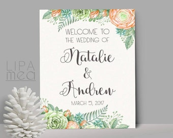 Welcome Sign Wedding, Printable Wedding Welcome Sign, Shower Welcome Sign, Printable Welcome Sign, Reception Sign. Welcome Wedding Sign