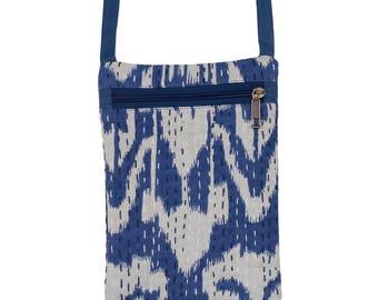 IKAT Passport Bag - Blue