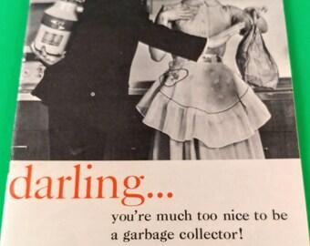 Vintage, 1964 In-Sink-Erator Garbage Disposer User's Guide/Owner's Instruction Manual. Mid Century Kitchen Sink Waste Plumbing.