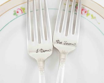 I Do Me Too Forks, I Do Forks, I Do Me Too, Wedding Decor, Wedding Table Settings, Wedding Flatware, Wedding Gift, Personalized Gift, Forks