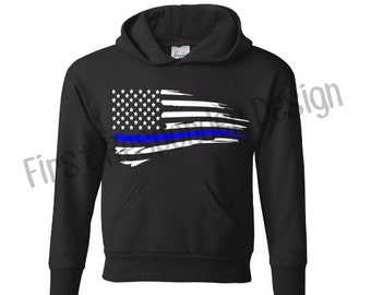 Thin blue line tank top police girlfriend Police wife police wife apparel blue lives matter law enforcement police officer blue line flag