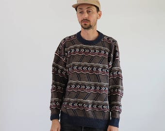 Coogi Style Multi Color Sweater Mens Small